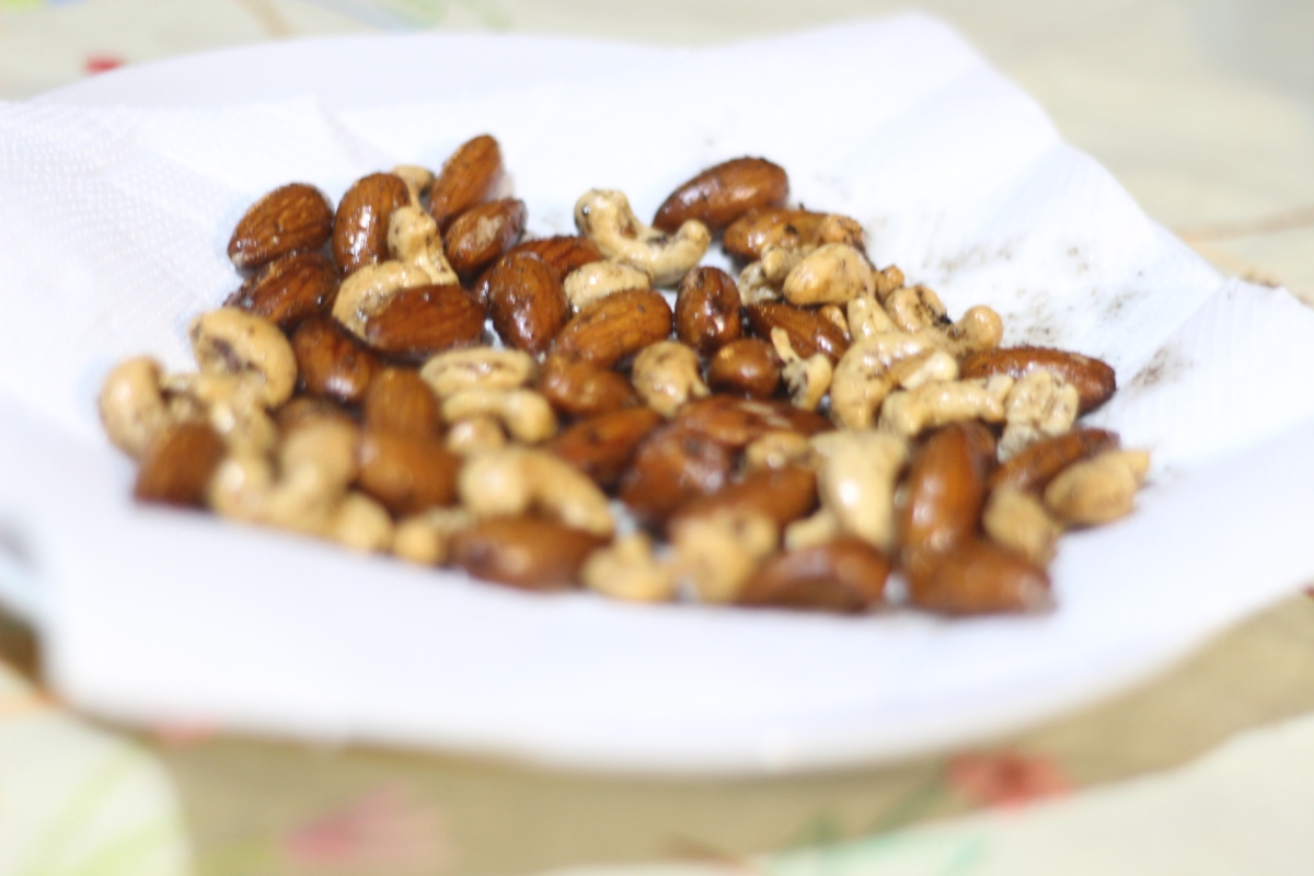 Snack saudável caseiro: Castanhas germinadas temperadas