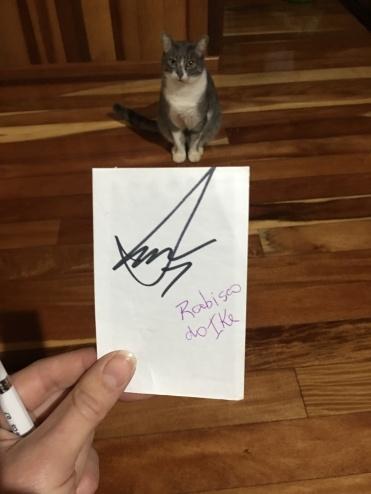 Meu autógrafo! <3