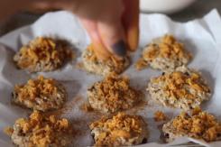 polvilhada sobre os cookies